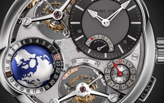 Das GMT Quadruple Tourbillon von Greubel Forsey.