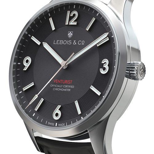 Die Venturist von Lebois & Co ist die erste Uhr, welche als Chronometer Plus vom Timelab zertifiziert wurde.