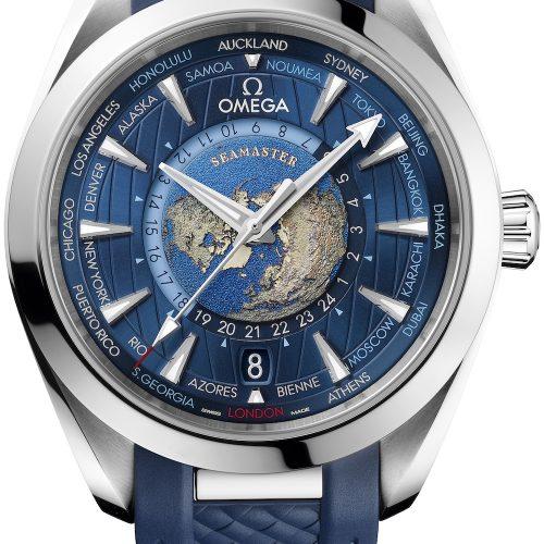 Die Weltzeituhr besitzt einen 24-Stunden-Ring mit Tag- / Nachtanzeige.