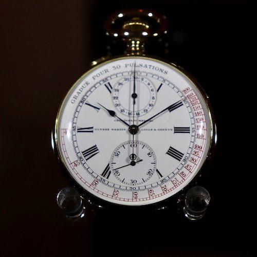 Die Taschenuhr mit Pulsometerskala von Ulysse Nardin ist ein Exponat des L.U.Ceums.