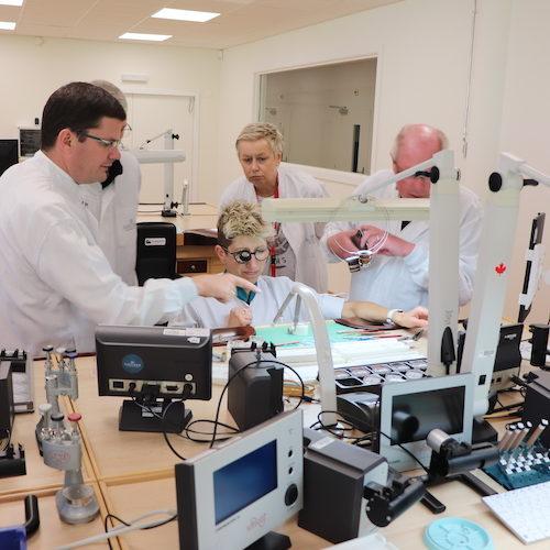 Die Montage der Werke in der Manufaktur Vaucher, die zu Parmigiani und mit 20 Prozent auch zu Hermès gehört.