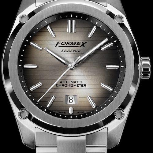 Die Formex Essence Degradee hat einen Farbverlauf von Silber nach Schwarz von innen nach außen.