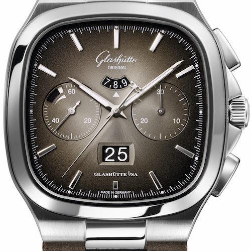 Das graubraune Sondermodell der Seventies Panoramadatum ist auf 100 Exemplare limitiert.