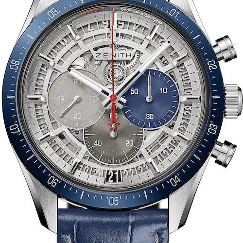 Die Chronomaster 2 von Zenith mit blauer Keramiklünette.