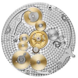 Das Kaliber 5110 DT besteht aus 234 Einzelteilen und bietet die Anzeige einer zweiten Zeitzone nebst Tag-/ Nachtindikation.